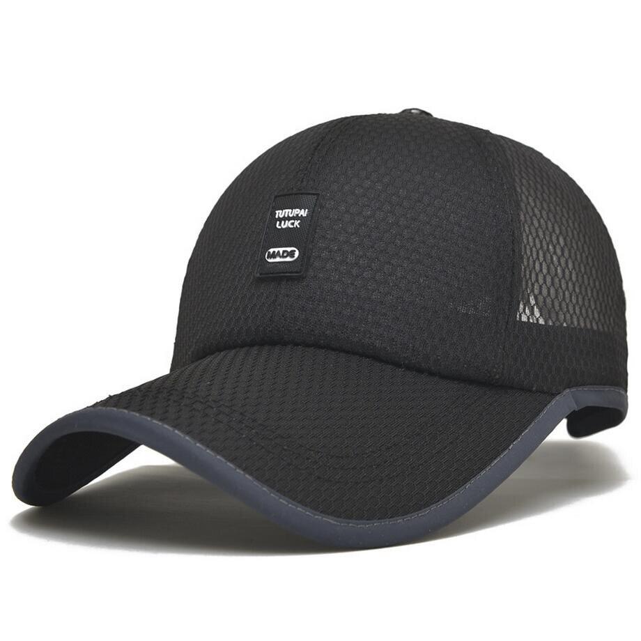 1Piece Baseball Cap Men Mesh Sports  leisure hats men's accessories Quiky-dry cap free shipping 1piece baseball cap men outdoor sports golf leisure hats men s accessories