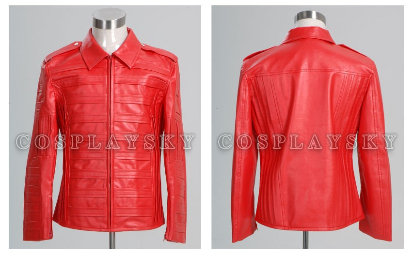 Michael Jackson Man in the Mirror Pleather Jacket Costume_01