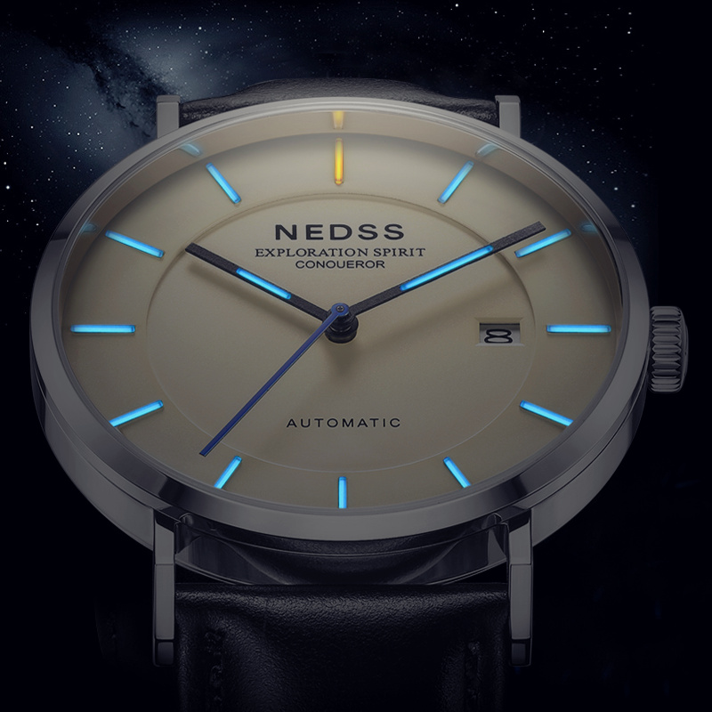 2018 NDESS Automatic watch Mens Watches miyota 9015 mechanical Watches Men Steel Military Army Watches Male Business Wrist watch didun mens automatic mechanical watches top brand luxury watches men steel army military watches male business wristwatch