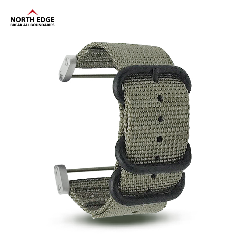 North Edge Range S Altay S Watch Band 24mm Width Military Color Outdoors Watch Strap Replaced Nylon With Connector Linker