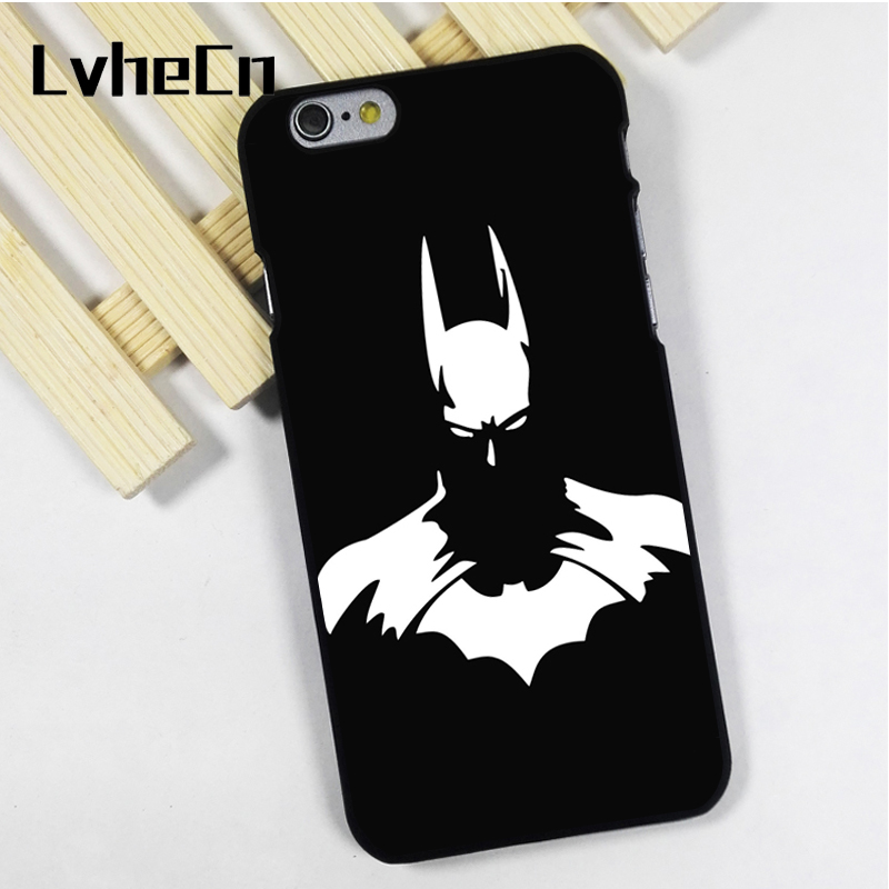 LvheCn phone case cover fit for iPhone 4 4s 5 5s 5c SE 6 6s 7 8 plus X ipod touch 4 5 6 back skins Batman Dark Knight Comic