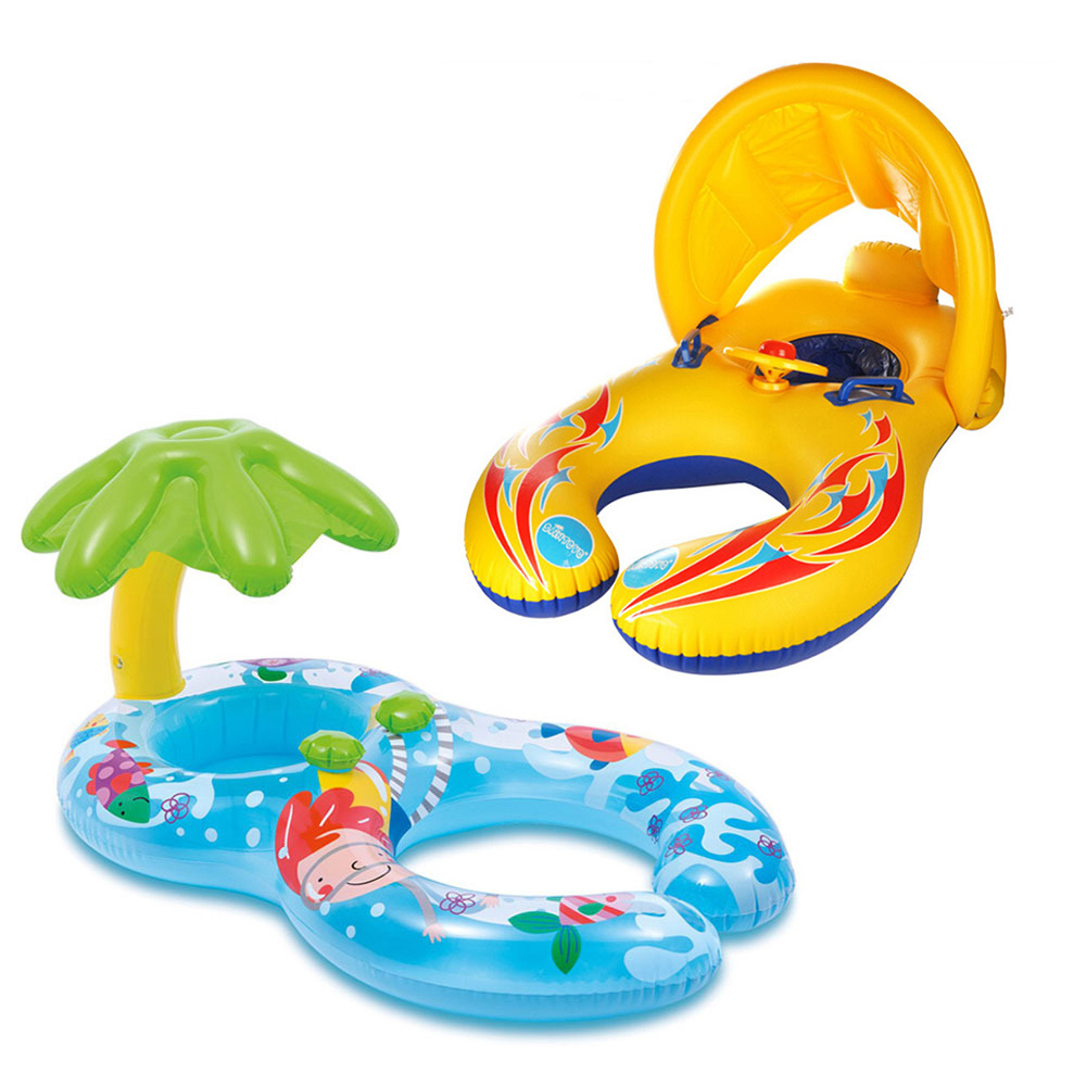 Inflatable Swimming Circle Kids Summer Pool Inflatable Buoy Swim Ring Seat Boat Sport