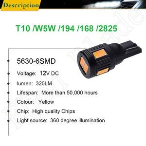 Image 2 - T10 W5W t 10 5w5 194 smd 車の led インテリア読書クリアランス電球オートライトサイドウェッジ電球ランプ黄色オレンジアンバー 12 12v アクセサリー