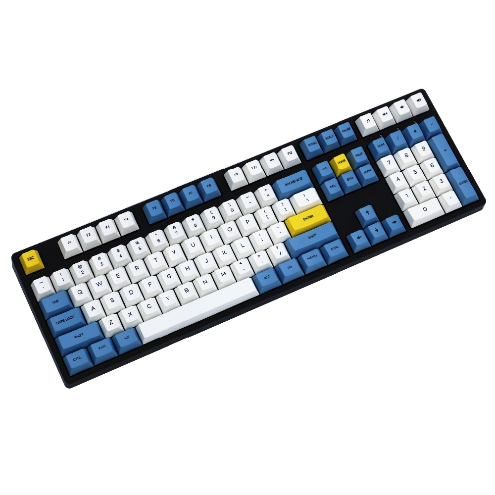 Azul cielo y blanco nube keycap 108/155 teclas PBT de perfil tinte sublimado MX interruptor de teclado mecánico keycap