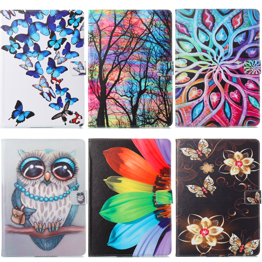 Kindle Fire 7 Case Kids Baby Safe sunflower painted Leather Stand Case Cover For new kindle fire 7 2015 7 para e-Book Cases #R