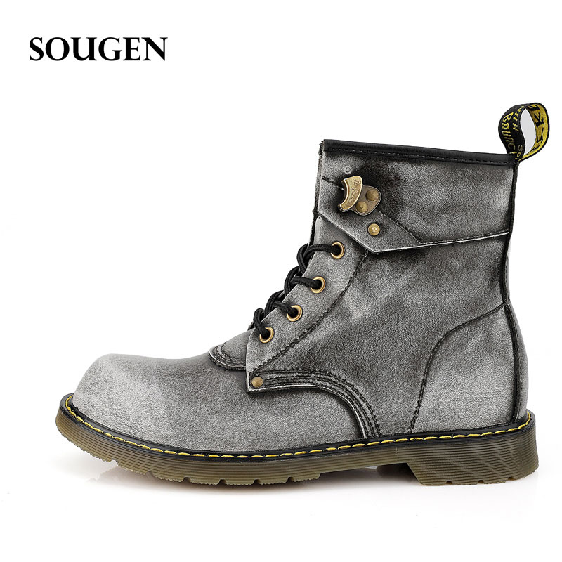 Male Boots Adult Martins Large Size Plus Big Size Winter Shoes for Men Casual Boot Mens Winter High Heel Bot Work Ons Men Moto