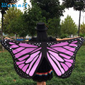 Durable 2017 new arrival bandana scarf women Fabric Butterfly Wings Fairy Ladies Nymph Pixie Costume Accessory
