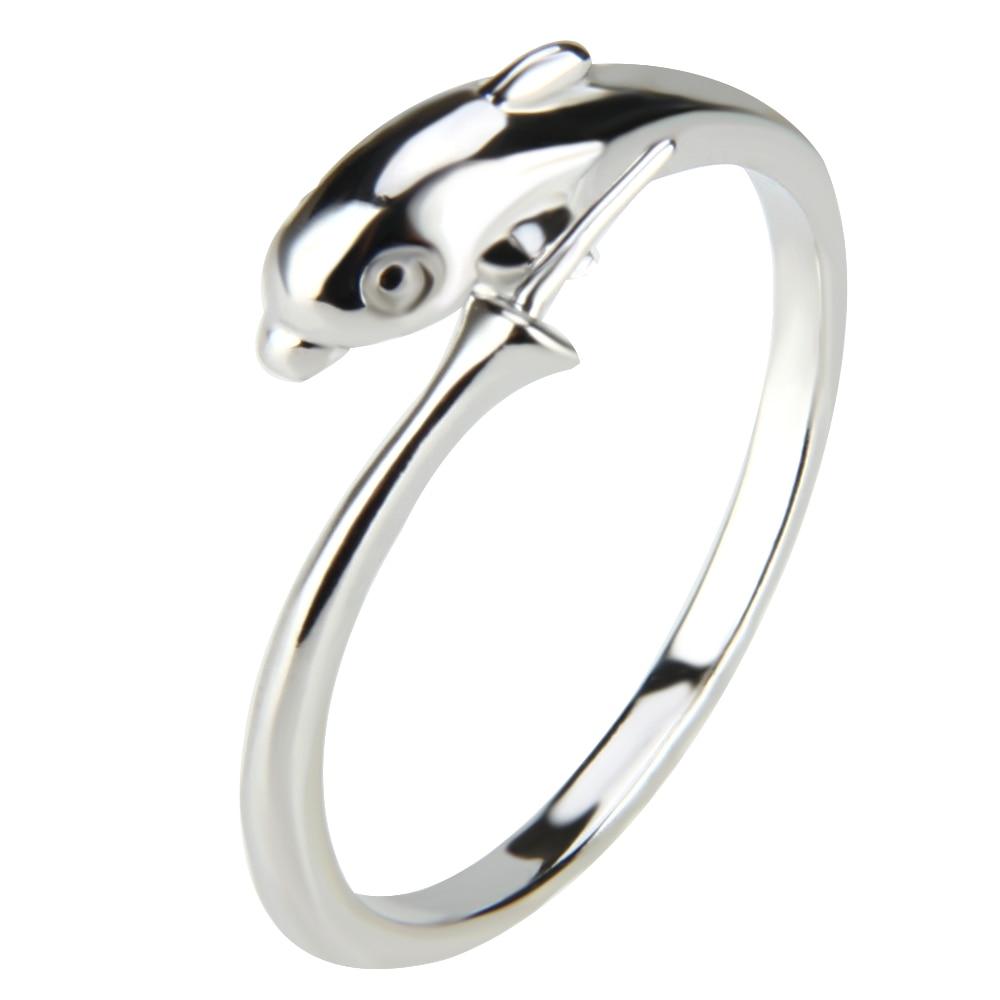 Cluci dophin Кольца для Для женщин бренд Дизайн, 5 шт. Кольца Наборы для ухода за кожей серебро Цвет партия Свадебные украшения для Для женщин