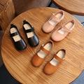 Children's leather shoes brand fashion princess flower single girls wedding students white shoes infantis