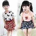 2016 New Fashion Girls Skirt Kids Child Print Flower Flora Skirts Children Miniskirt Cute Summer Polka Dot Fluffy Casual Skirt