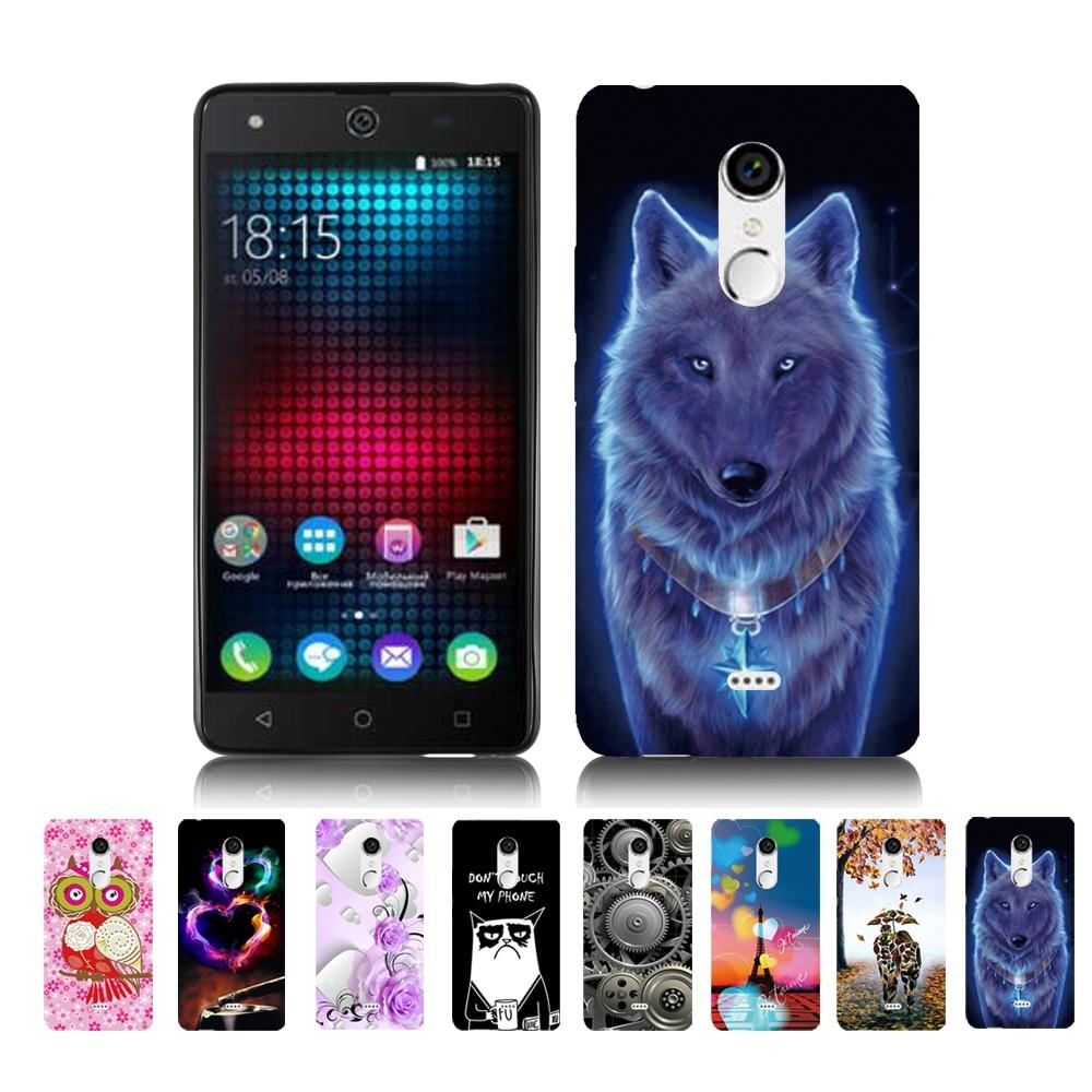 For BQ 5050 New Shell Carton Wolf King Animal Pattern Case For BQ BQS-5050 Strike Selfie Back Cover Housing Bag Phone Cases