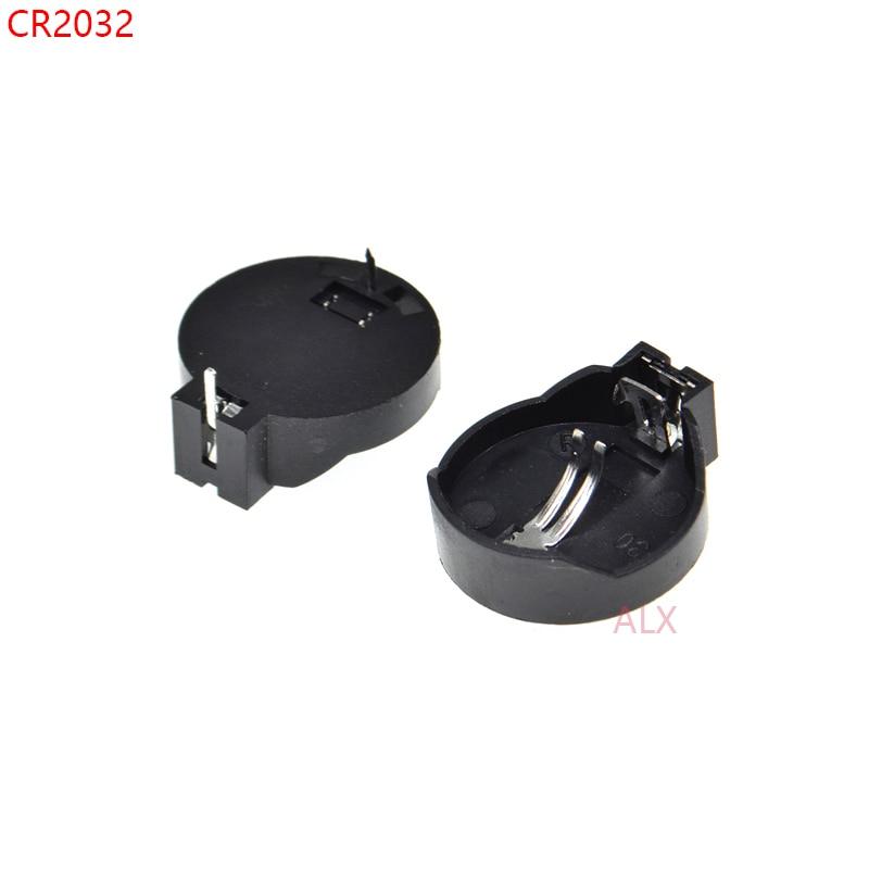 Lot 10pcs Support pour Pile Bouton CR2032 CR2025 Boitier Battery Holder Socket