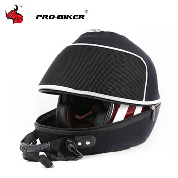 PRO-BIKER Motorcycle Bag Motorbike Tool Tail Bag High-capacity Moto Helmet Bag Shoulder Bag Black Motorcycle Handbag Backpack