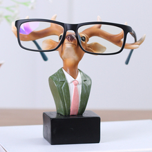Deer/ Rabbit Animal Glasses Stand Resin Crafts Lovely Eyeglasses Sunglasses Stand Holder Rack Animal Home Decor Best Gift