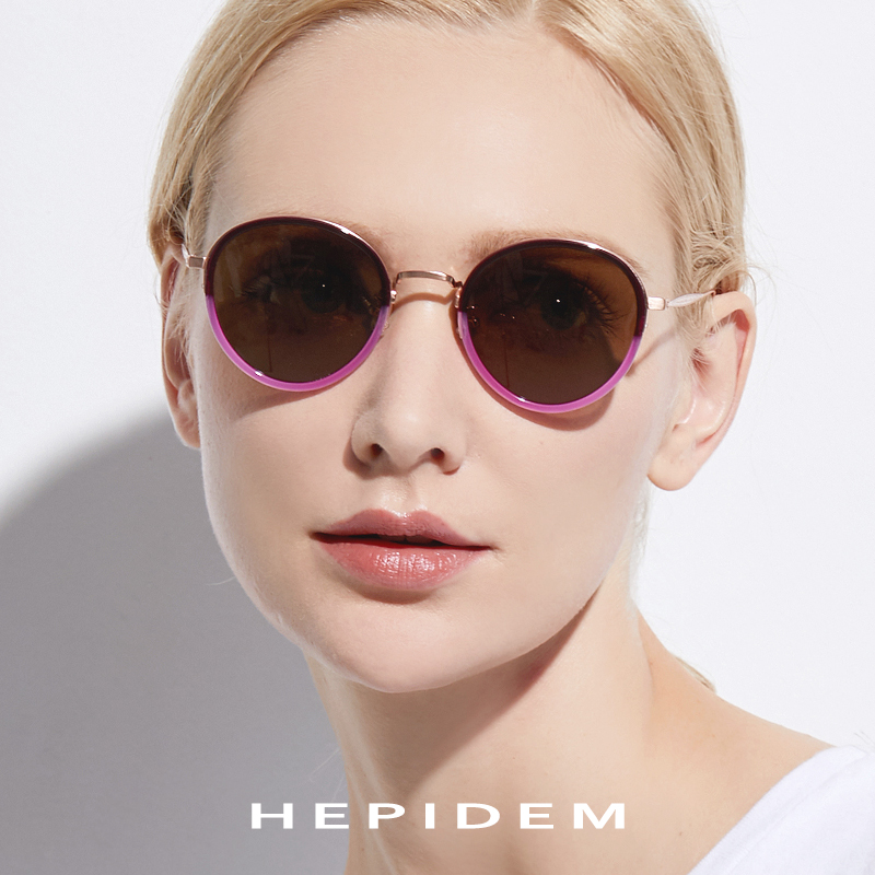 Pure B Titanium Acetate Polarized Sunglasses Women Vintage Round Sunglass Men Retro Mirror Sun Glasses Women's Oculos Gafas H853