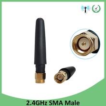 10pcs 2.4GHz antenna wifi SMA Male Connector 2~3dbi 2.4 ghz antena wi fi Small Size antenne white wi-fi antenas antennas router модем zte mf79 usb wi fi router черный