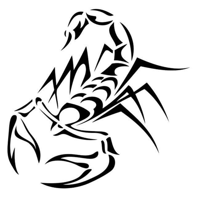 d34d02fa2 13.9cm*13.7cm Tribal Tattoo Scorpion Cartoon Decal Vinyl Stickers  Black/Silver S3-5264