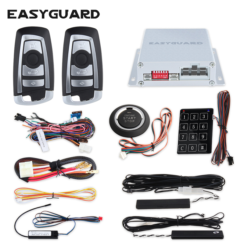 EASYGUARD PKE מכונית אזעקה מערכת ערכת עם - אלקטרוניקה לרכב