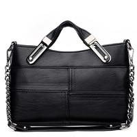 Famous Brand Women Tote Bag PU Leather Thread High Quality Women Handbags OL Shoulder Bags Women