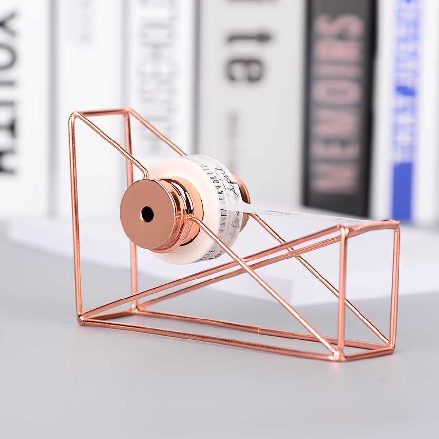 Metal rose gold Tape Cutter Washi Tape Storage Organizer Cutter Stationery Office Tape Dispenser Office Supplies high capacity japanese masking tape storage cutter multi rolls round washi tape storage organizer cutter office supplies