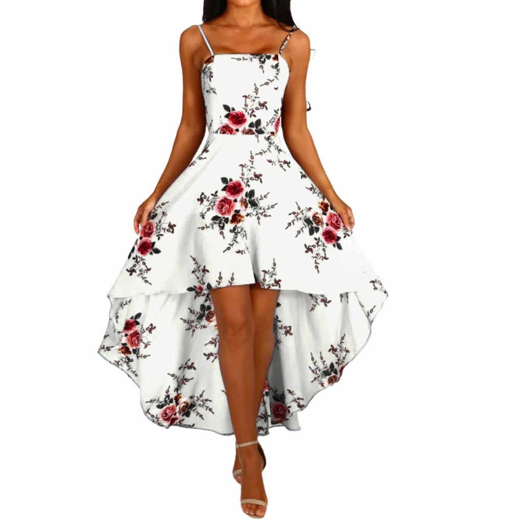 夏セクシーなパーティードレス女性ヴィンテージフローラルスリロングドレス女性パーティー夜のビーチドレス女性服 2019