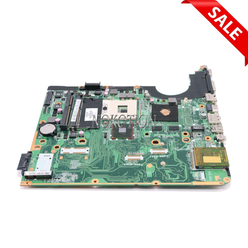 NOKOTION 580976-001 DA0UP6MB6F0 For Hp pavilion DV6 DV6-2100 Laptop Motherboard PM55 DDR3 GT210M GPU Free CPU free shipping da0up6mb6f0 605698 001 for hp pavilion dv7 3000 laptop motherboard pm55 ddr3 suppy core i7 only geforce gt320m