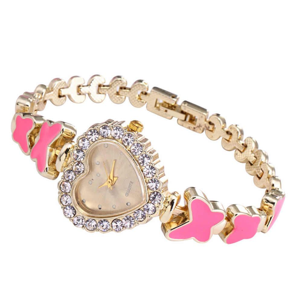 Reloj de pulsera redondo de diamantes para mujer reloj de pulsera de movimiento de cuarzo analógico relojes de pulsera de diamantes de imitación para mujer
