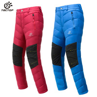 Tectop child comfortable hiking/outdoor/camping windproof waterproof keep warm thermal down pants Winter Trousers Christmas Gift