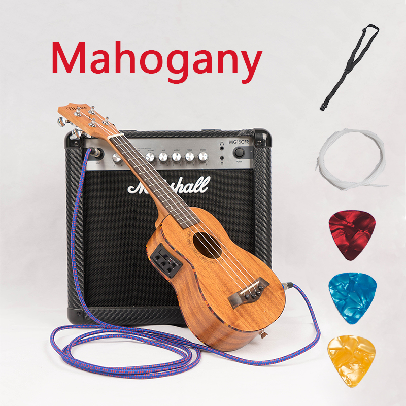Soprano Concert Acoustic Electric Ukulele 21 23 Inch Guitar 4 Strings Ukelele Guitarra Handcraft Guitarist Mahogany Plug-in Uke 12mm waterproof soprano concert ukulele bag case backpack 23 24 26 inch ukelele beige mini guitar accessories gig pu leather