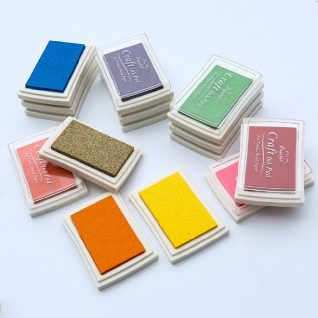 DIY Stamp Pad Scrapbooking Stamp Ink Pad Water-Solubl Stamp Pad for Rubber Finger Paint Toy Scrapbook Stempel Craft Accessories