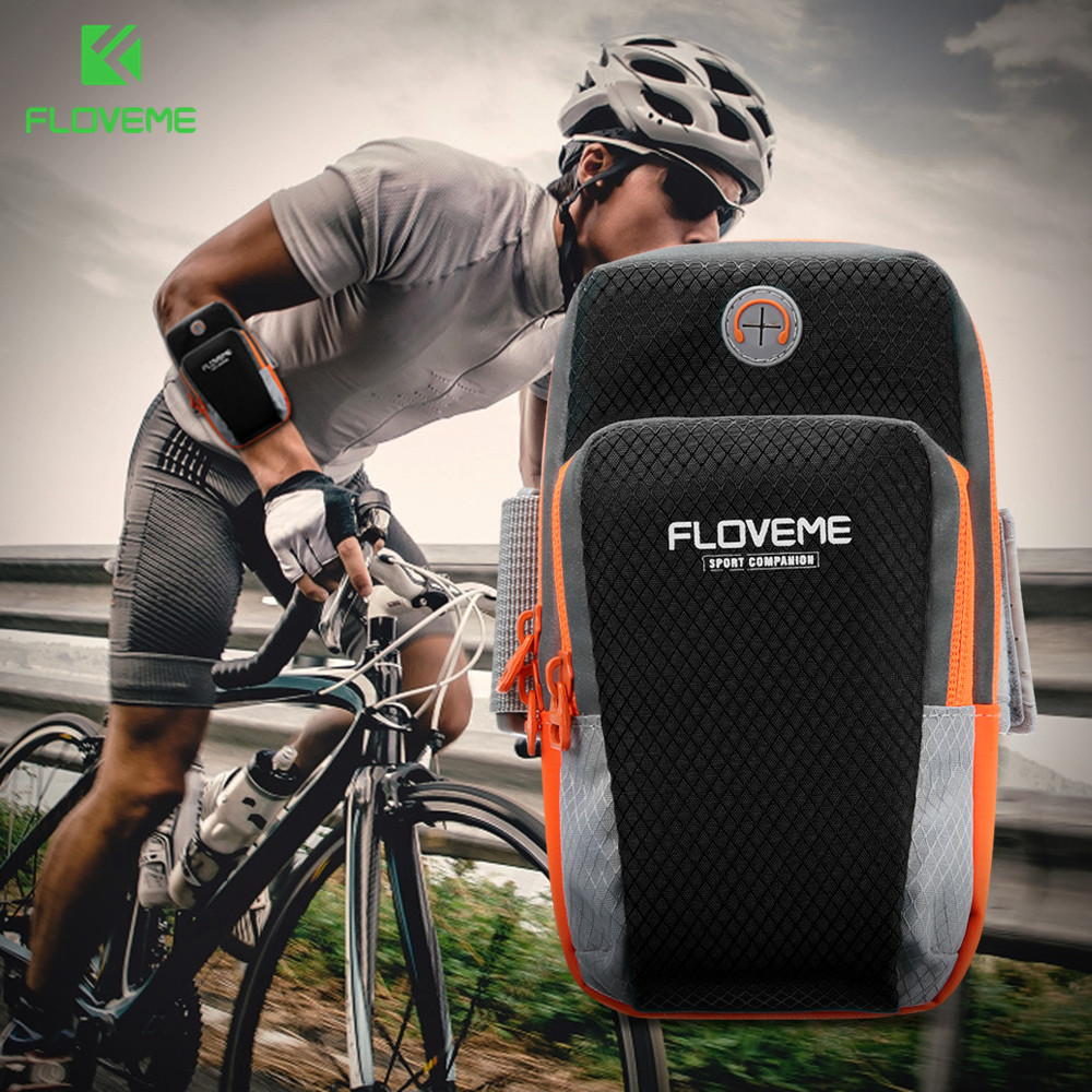 FLOVEME Running Phone Case 6 inch Pouch Bag For iPhone X 10 8 7 6 6s Plus 5S SE Case Running Sport Arm Bag Case For Men Women ...