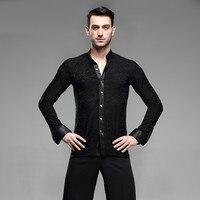 mens latin shirts dance top mens ballroom dancewear men's latin dance costumes stage clothing for men ballroom clothes