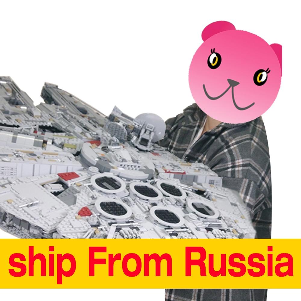 Lepin Star Wars Millennium Falcon Ultimate Collector Series 05132 Spedetto Dalla Russia per il Trasporto in giorni