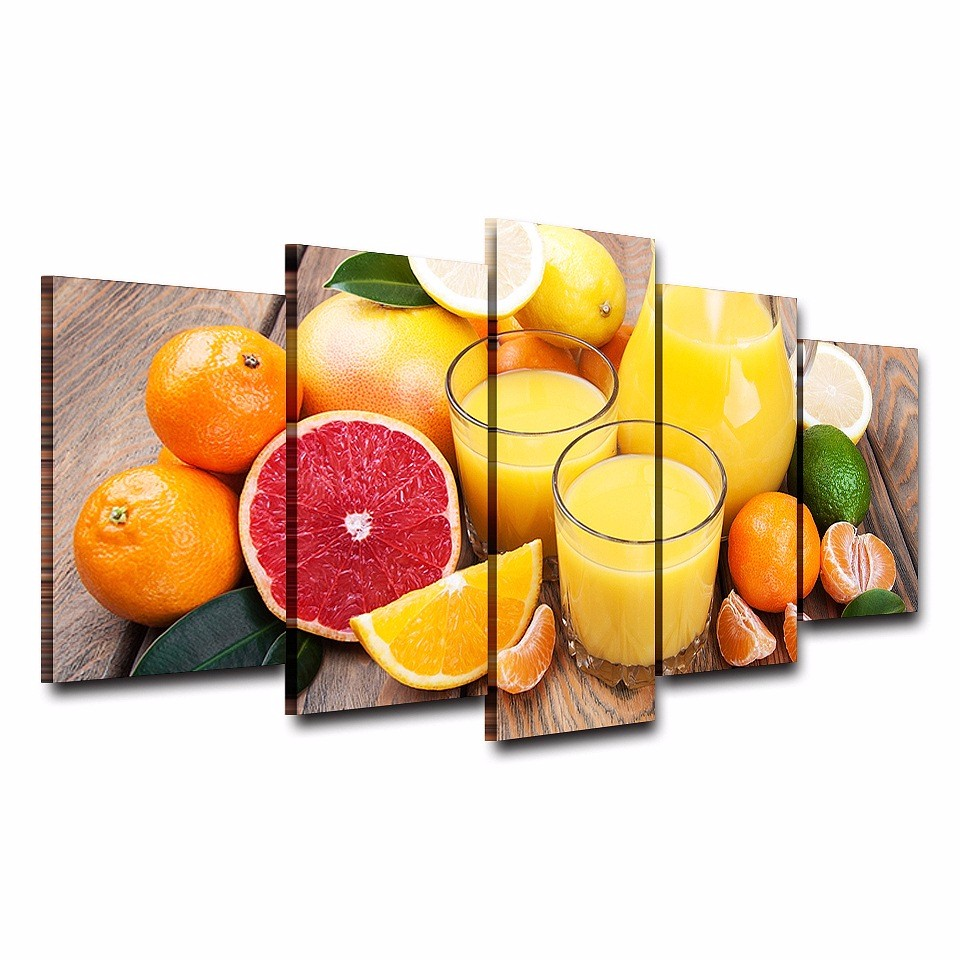 Mordern Painting Frame Wall Art Oil Pictures Home Decor 5 Panel ...
