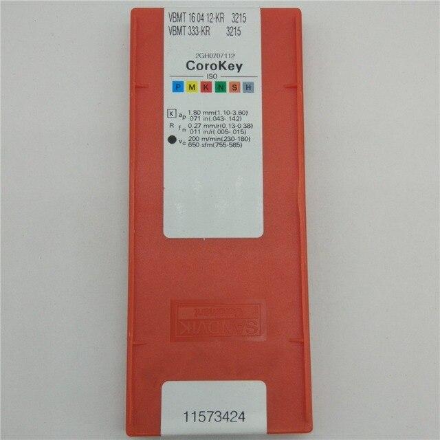 YZ66 10pcs 3215 VBMT160412-KR 3215 VBMT333-KR Carbide Inserts