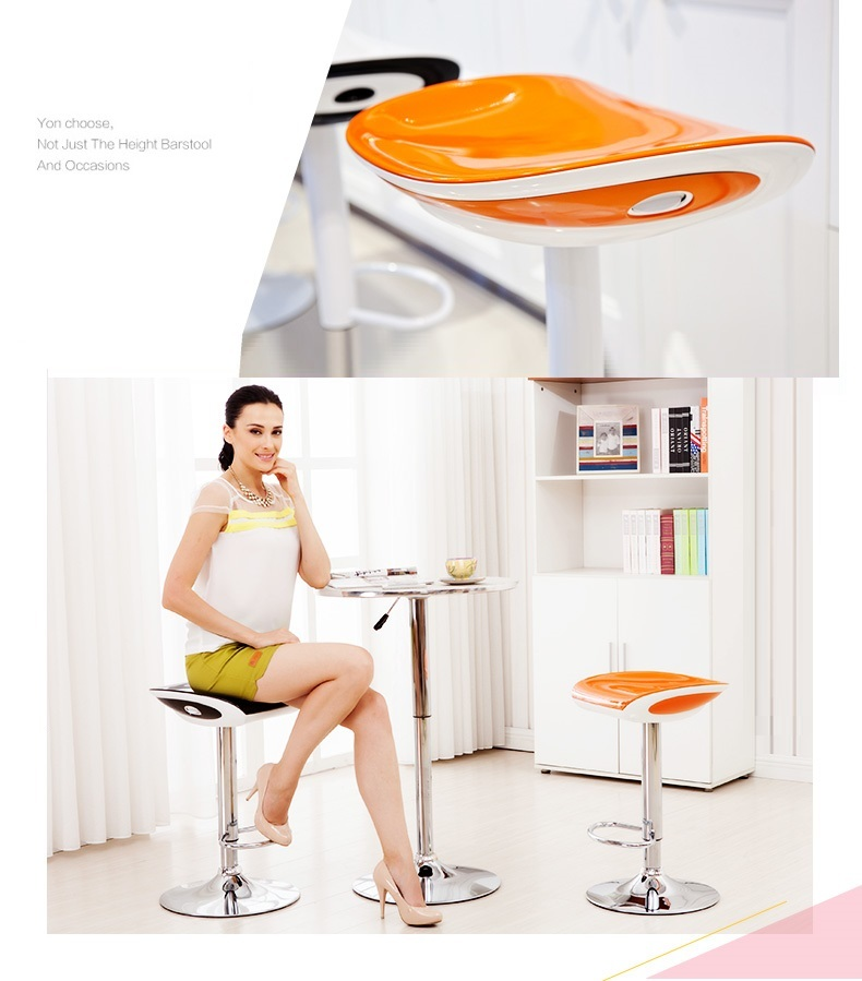 Beach House Bar Stool seaside surf leisure chair orange color Office Computer Stool retail and wholesale free shipping