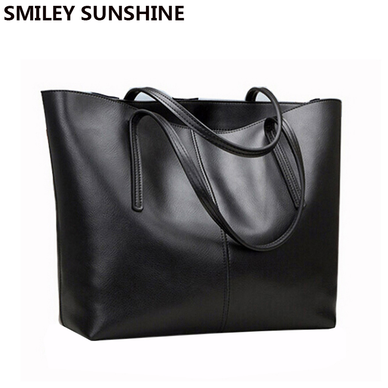 SMILEY SUNSHINE fashion women leather handbags female genuine leather shoulder bags ladies luxury purses and handbags sac a main