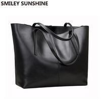 SMILEY SUNSHINE fashion women leather handbags female genuine leather shoulder bags ladies luxury purses and handbags sac a main