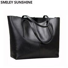 SMILEY SUNSHINE fashion women leather handbags female genuine leather shoulder bags ladies luxury purses and handbags