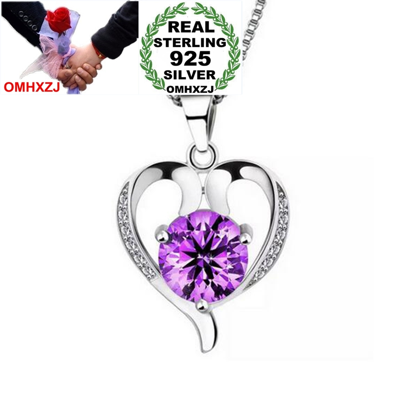 OMHXZJ Wholesale Heart Fashion OL Woman Girl Gift Only Love Zircon 925 Sterling Silver Pendant Charms PE94 ( NO Chain Necklace )
