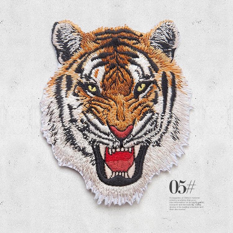 Leopard Tiger Lion Wolf Κέντημα Σίδερο σε Patches - Τέχνες, βιοτεχνίες και ράψιμο - Φωτογραφία 3