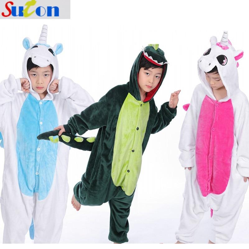 suton Baby Clothes Children Pajamas Cartoon Sleepwear Stitch Unicorn Zebra Tiger Unisex Home Wear for Girls Boys Kid Costume Set