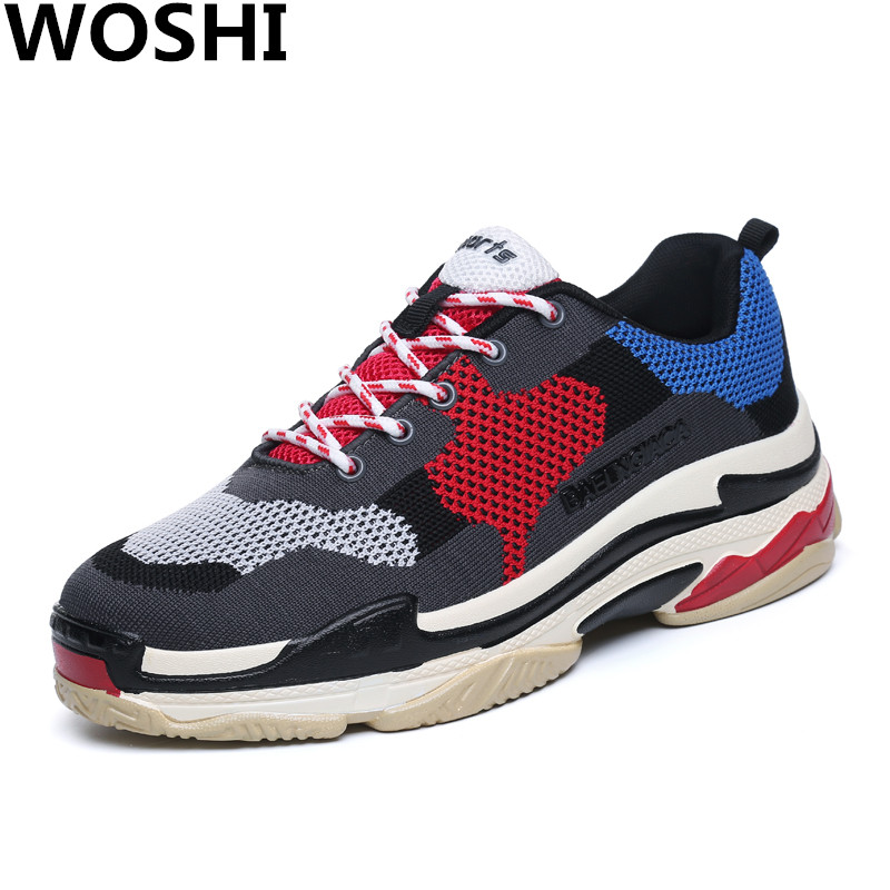 New Air Mesh Running sports Shoes For Men Outdoor Breathable Comfortable Athletic Flats Shoes lightweight running shoes w1