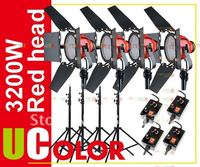 4 x 800W Studio Red Head with Dimmer Control Continuous Video Light Kit