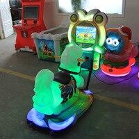 Cрабатывающий при опускании монет детская машинка для электрических распашных автомобиль Хэппи скачки amusement equipment simulatorkiddie верхом на лошади