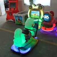 Coin operated children rideelectric swing happy car horse racing amusement equipment simulatorkiddie horse ride 3Dgames machine