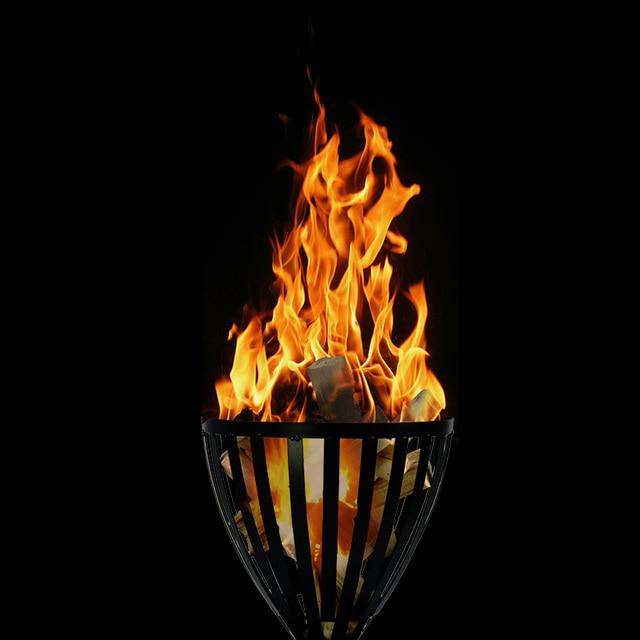 Camino esterno barbecue grill buca per il fuoco per il for Fuoco finto per camino