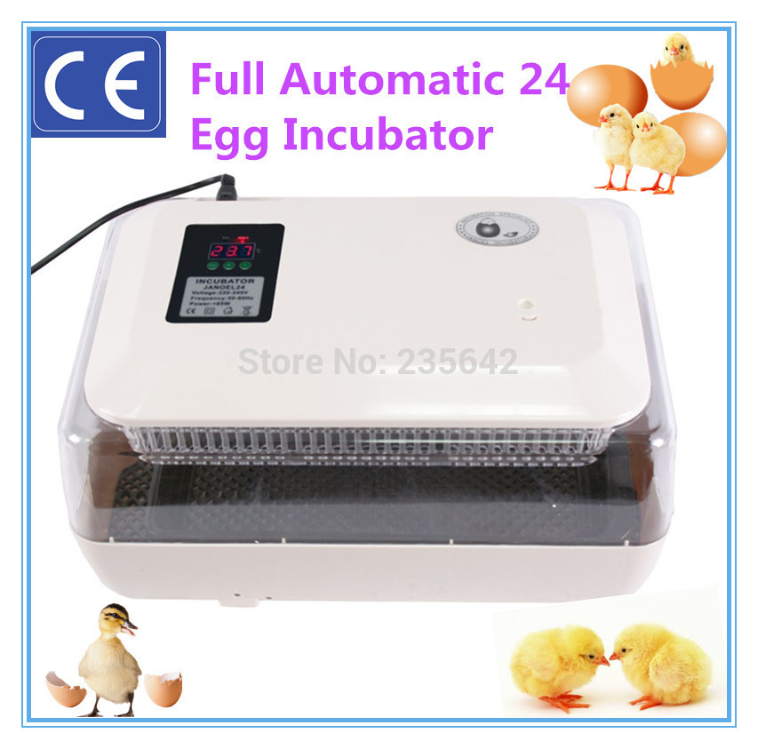 CE approved 24 chicken eggs automatic chicken egg incubator hatching machine cheap price full automatic mini chicken egg incubator 24 eggs with ce approved for sale