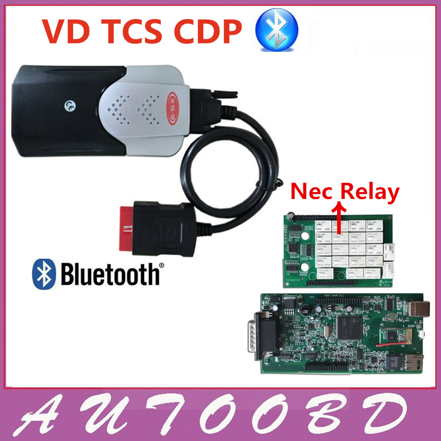 Shenzhen AutoOBD Technology Co.,Ltd. New Released 2015.R3 VD TCS CDP Bluetooth With Double PCB Chip For Car Truck Multibrand Vehicles Diagnostic tool Better Than MVD