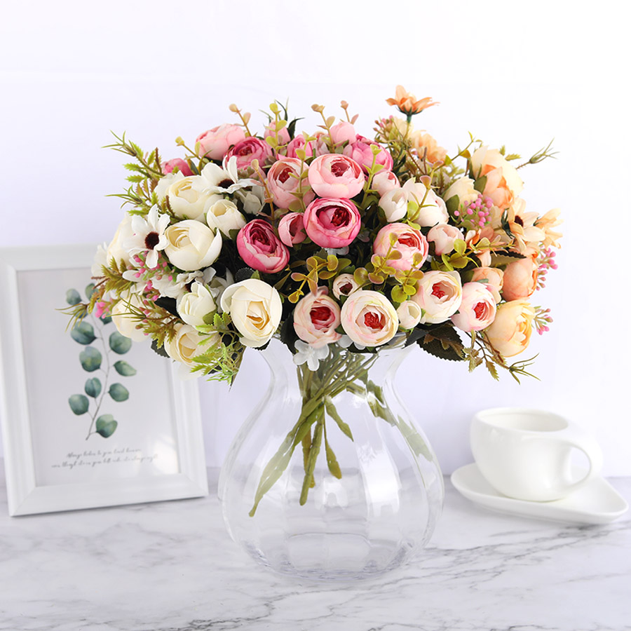 Shop For Silk Diy Daisy Camellia Artificial Flowers For Xmas Party And Wedding Decoration Online